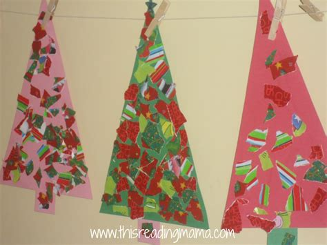 crafts with wrapping paper torn wrapping paper trees