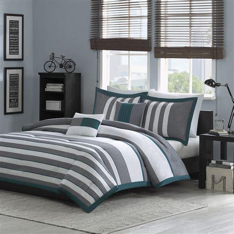 teal and grey comforter set beautiful modern teal blue white grey stripe soft