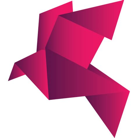 origami png bird 2 icon free as png and ico formats