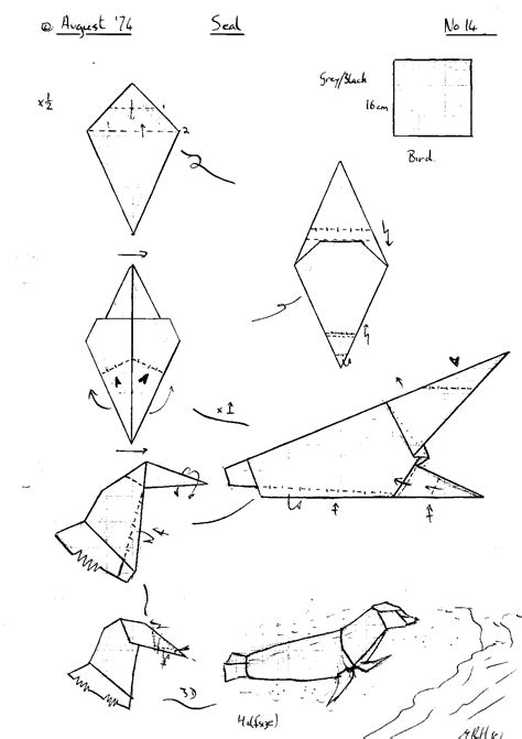 origami wolf step by step origami diagram origami