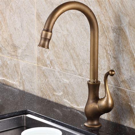 antique kitchen sink faucets best antique brass rotate kitchen sink faucets