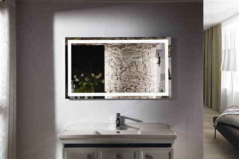 bathroom mirrors lighted budapest iv lighted vanity mirror led bathroom mirror