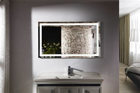lighted vanity mirrors for bathroom budapest iv lighted vanity mirror led bathroom mirror