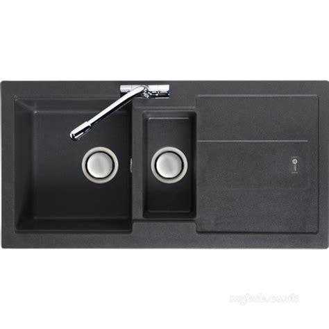 graphite kitchen sinks graphite bali reversible kitchen sink with drainer and
