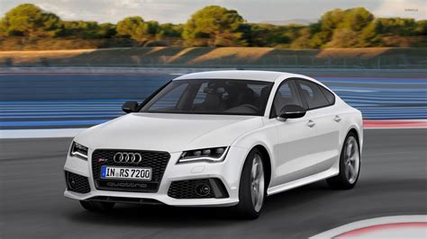 Car Wallpaper 2014 by 2014 White Audi Rs7 Sportback Quattro Wallpaper Car