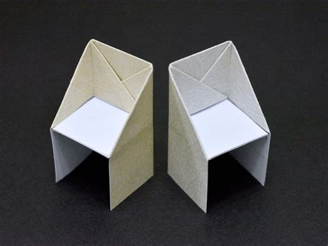 origami how to make how to make an origami chair 13 steps with pictures