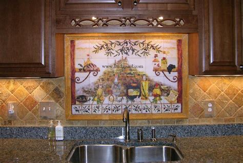 kitchen tile murals tile backsplashes italian tile backsplash kitchen tiles murals ideas