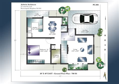 house plans for 30x40 site 30 x 40 house plans east facing house plan home plans