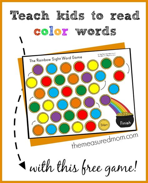 read colored free teach to read color words money saving 174