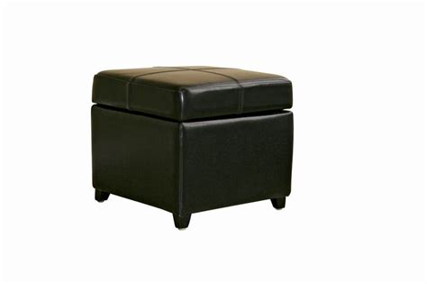 black leather storage ottomans black leather storage cube ottoman affordable