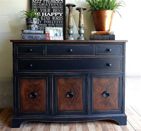 Distressed Orange Furniture by Black Painted Wood Dresser The Best Wood Furniture