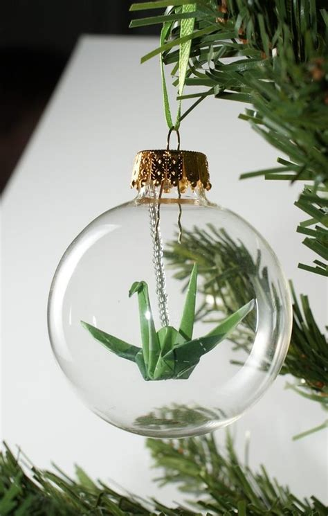origami tree ornaments how to fill clear glass ornaments 25 ideas shelterness