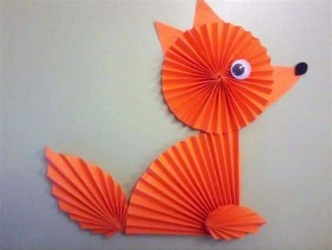 folded paper craft folded paper forest animal crafts 171 funnycrafts