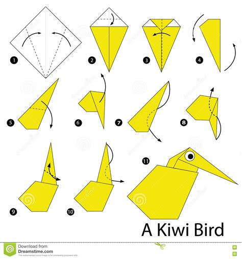 how to make a bird with origami step by step how to make origami a kiwi bird