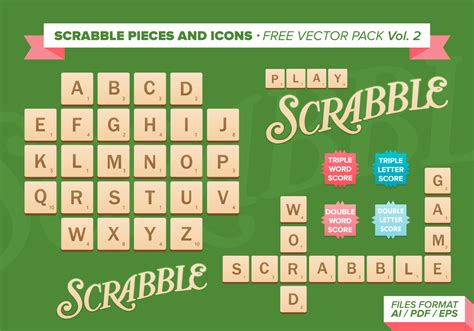 ai scrabble scrabble pieces and icons free vector pack free