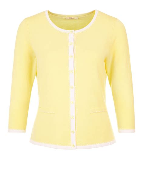 yellow knit cardigan precis lemon knit cardigan in yellow lyst