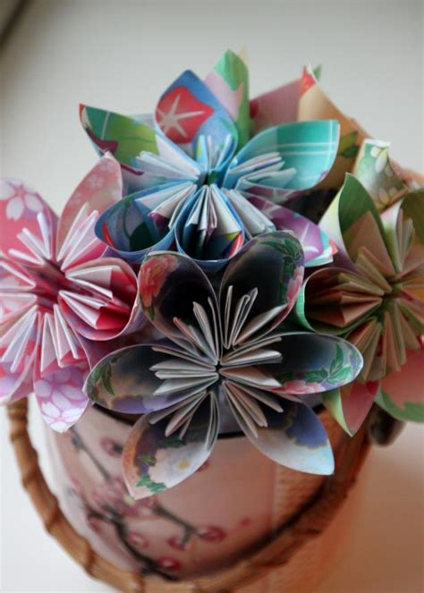 easy origami flower bouquet easy origami flower tutorial hgtv