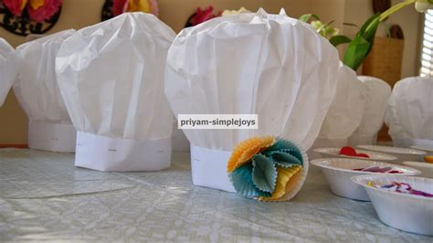 chef hat craft for simplejoys paper chef hats