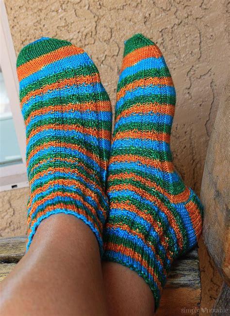 slip knit slip stitch stripey free sock pattern simply notable