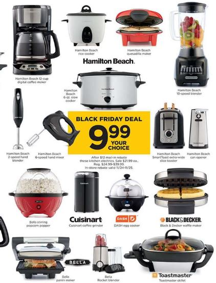 kohl s black friday free small kitchen appliances after