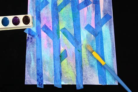 painting crafts for easy birch tree painting with the educators spin on it