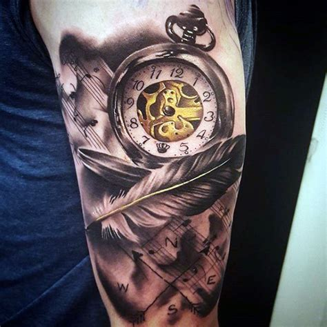 200 popular pocket watch tattoo and meanings 2017