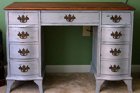 chalk paint executive desk antique desk redo using diy chalk paint and diy wax