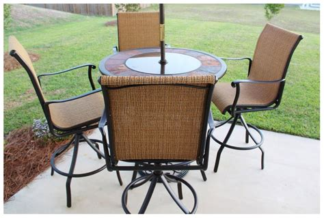 patio chairs and tables high top patio table and chairs marceladick