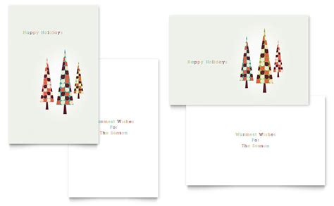 card in microsoft word modern trees greeting card template word publisher