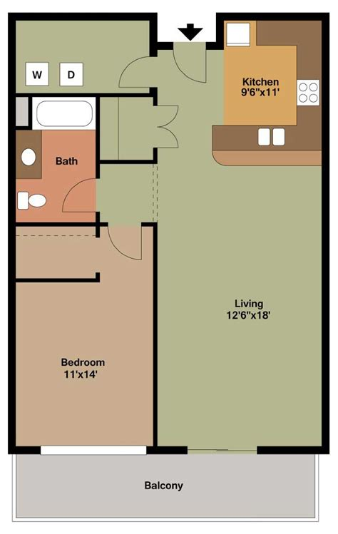 1 bedroom garage apartment floor plans floor plan style m the overlook on prospect