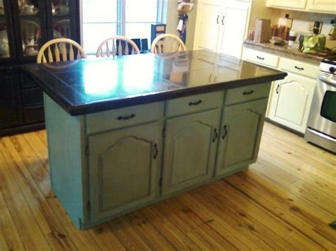 chalk paint kitchen cabinets duck egg kitchen island finished in duck egg using chalk paint