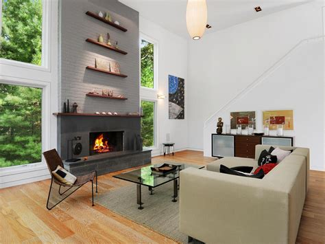 Grey Painted Rooms 15 gorgeous painted brick fireplaces hgtv s decorating