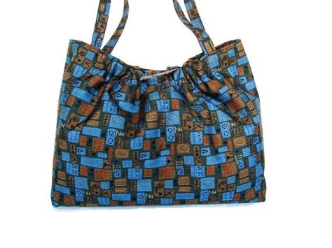 knitting totes knitting project bag knitters tote upholstery fabric bag blue