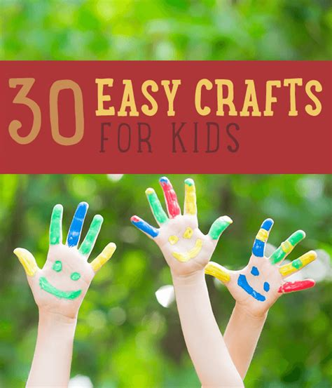 simple craft projects for crafts 30 easy craft projects for diy ready