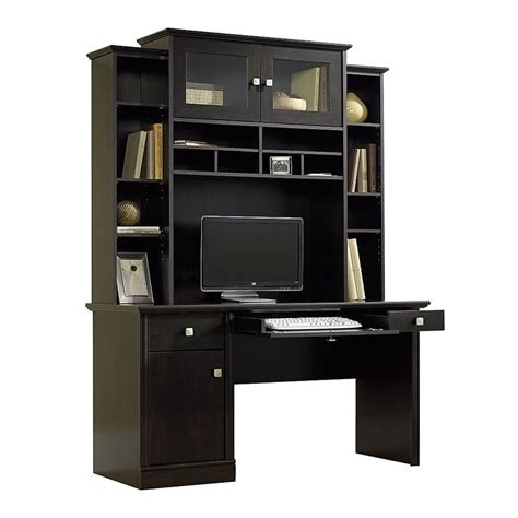 black office desk with hutch corner desk with hutch office depot woodworking projects