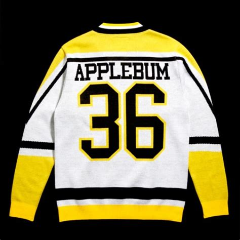 wu tang knit sweater applebum x wu tang brand quot 36 hockey jersey quot knit sweater