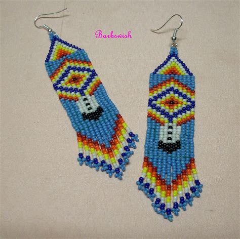 how to bead american style american style seed bead earrings woven