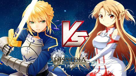 anime v anime battle saber vs asuna dissidia 012 mods