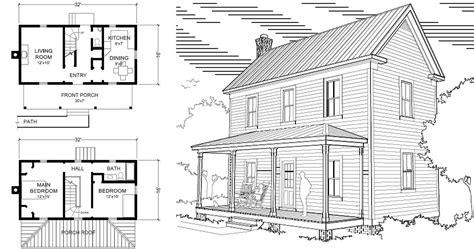 2 story farmhouse plans two story 16 x 32 virginia farmhouse house plans project small house