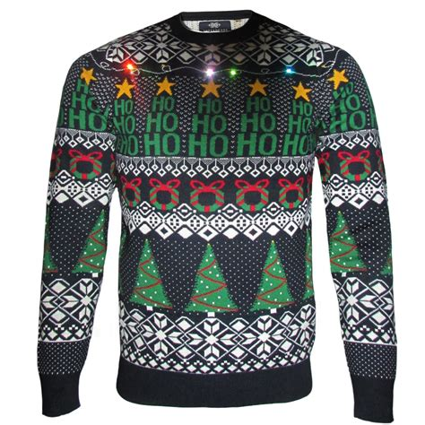 mens light up sweaters mens threadbare led light up jumper novelty knit