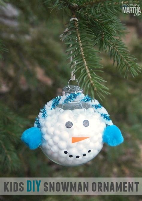 kid ornament craft ideas make a snowman ornament becoming martha