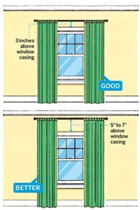 how low should curtains hang 25 best ideas about hanging curtain rods on