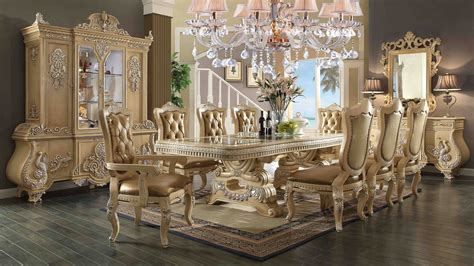 Acme Furniture Dining Room Set 11 piece homey design victorian palace hd 7266 dining set