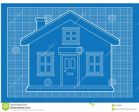 blueprints for houses free simple house blueprints royalty free stock photo image 19708695