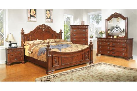 king size bed room set bedroom sets linden place cherry king size bedroom set