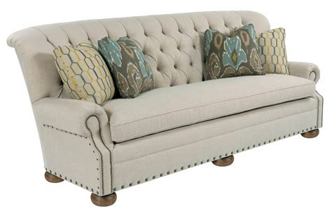 tufted sofa with nailheads traditional 96 inch button tufted sofa with rolled back