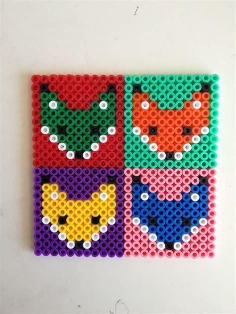 perler bead fox fox hama perler coasters craft ideas
