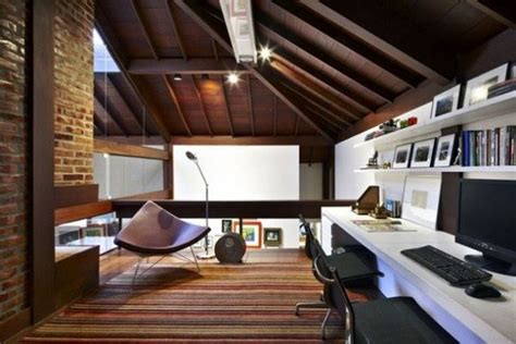 home office ceiling lights awesome style wood pakistan 30 cozy attic home office design ideas
