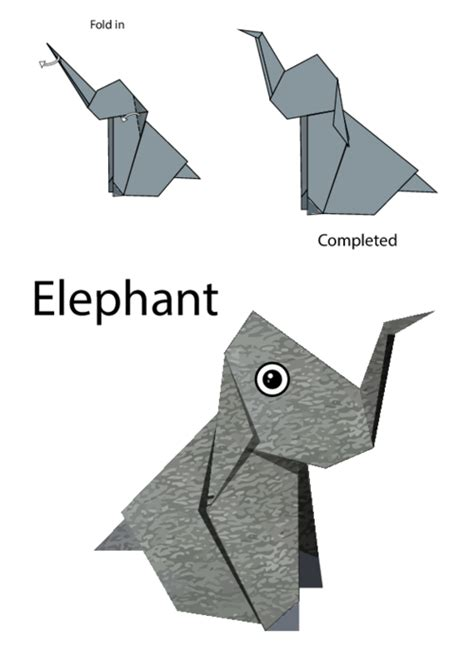 elephant origami easy easy origami elephant kidspressmagazine