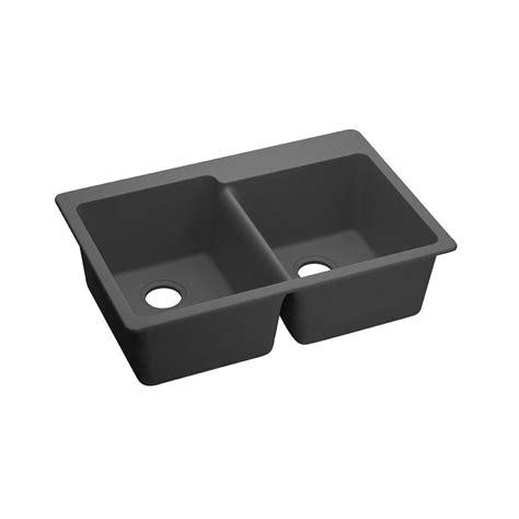 quartz kitchen sink elkay elkay by schock dual mount quartz composite 33 in